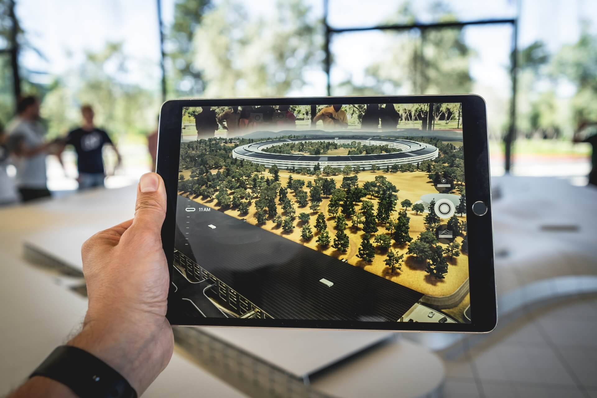 Augmented Reality presentation on a tablet